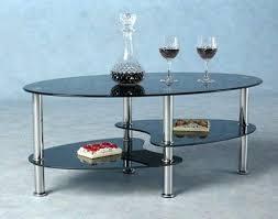 Cara Coffee Table Coffee Table Black Glass Cara Coffee Table Black Glass Split Shelf