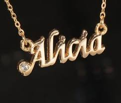 necklace with name ebay images Alicia name necklace with rhinestone gold or silver tone ebay jpg