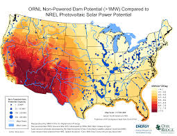 Wind Map United States by Non Powered Dam Resource Assessment Nhaap Ornl Gov