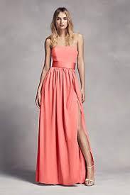 bridesmaid dresses coral coral bridesmaid dresses gowns david s bridal