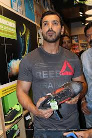 exclusive coverage john abraham at reebok zquick shoes launch