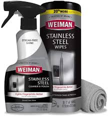 what is the best cleaner to remove grease from kitchen cabinets weiman stainless steel cleaner kit fingerprint resistant removes residue water marks and grease from appliances works great on refrigerators