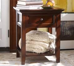 Mahogany Side Table Hudson 1 Drawer Bedside Table Pottery Barn