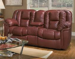 Burgundy Living Room by Leather Transitional Living Room W Recliner Mechanism