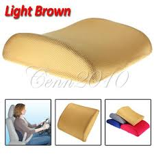 memory foam seat cushion lumbar back support car office chair