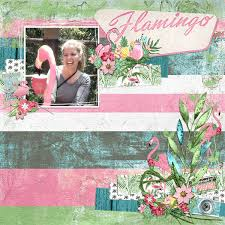 digital scrapbooking kit flamingo road collection mini by cindy