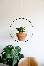 indoor modern planters black metal hanging planter metal plant hanger modern planter