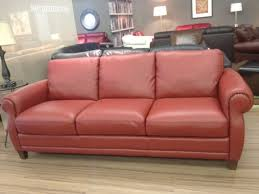 natuzzi red leather sofa home and textiles