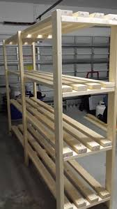 Wooden Shelf Building by Best 25 Garage Shelving Plans Ideas On Pinterest Building