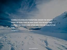 1 peter 5 6 7 daily bible inspirations