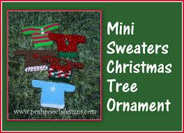 mini sweater christmas ornament crochet pattern youtube