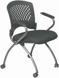 astonishing black leather butterfly folding chair with sturdybrown