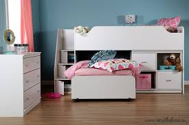 interior south shore logik twin loft bed ensemble twin loft bed
