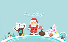 santa claus happy holidays wallpapers in jpg format for free