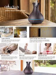 amazon com aroma essential oil diffuser olivetech 400ml