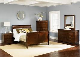 Mission Style Bedroom Furniture Cherry Whiskey Finish Louis Philippe Sleigh Bed W Optional Case Goods