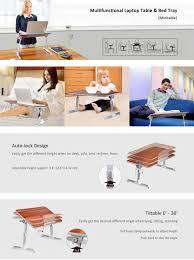 2 year warranty avantree adjustable laptop bed tray portable