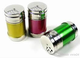 colorful spice shaker pepper salt bottles condiment jar container