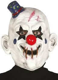 killer clown mask men s killer clown fancy dress mask fancy me limited