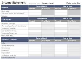 Profit And Loss Statement Excel Template Income Statement Template Vnzgames