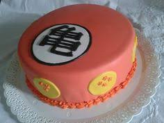 easy dragon ball z cake made with buttercream icing and airbrushed