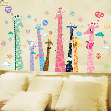 aliexpress com buy colorful color giraffe wallpaper for kids