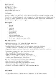 Consulting Resume Examples by Professional Certified Lactation Consultant Templates To Showcase