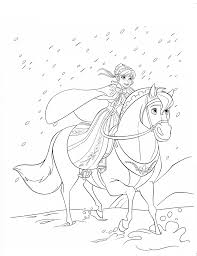 kids 7 frozen coloring pages