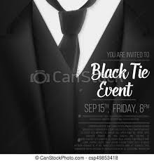 illustration of realistic vector black suit black tie event