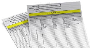 Construction Punch List Template Excel Punch List Template Free Excel Bridgit