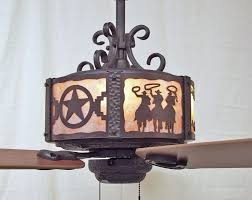 Western Ceiling Fans With Lights Copper Craftsman Western Ceiling Fan Rustic Lighting And Fans