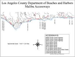 Pacific Coast Highway Map Compilation Of Public Beaches Spanning From Oxnard To Hueneme To