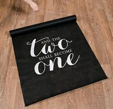 black aisle runner and two shall become one wedding aisle runner 100ft ebay