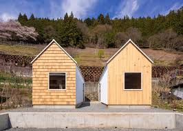 Micro Homes Twin Micro Homes By S Plus One Are Finished In Different Woods