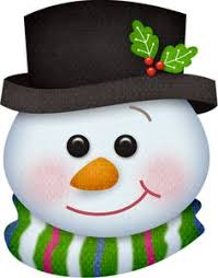 smiley face snowman clipart 14