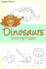 free preschool dinosaur coloring pages childrens triceratops