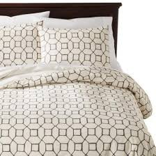 taupe and cream torn paper duvet cover set