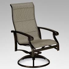 Swivel Tilt Dining Chairs by Swivel Tilt Sling Outdoor Dining Chair Outdoor Dining Chairs At