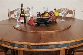 Sedona Round Table - 60 inch round dining table with lazy susan