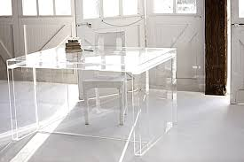 Chic Desks Acrylic Home Office Desks For A Clearly Fabulous Work Space