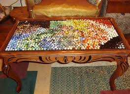 replace glass in coffee table with something else upcycling antique coffee table with marbles hometalk