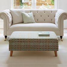luxury upholstered deep buttoned storage footstool ottoman
