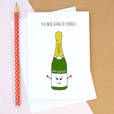 personalised prosecco birthday card by of life u0026 lemons