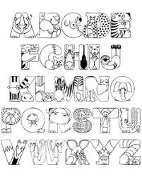 capital letters coloring printable page for kids alphabets