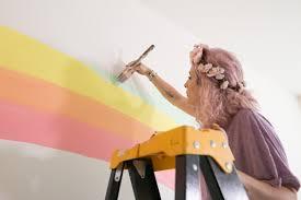 mr kate diy rainbow mural wall do it