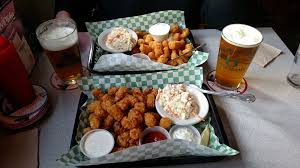 Rock Garden Tavern Clam Strips Popcorn Shrimp And Tots Yelp