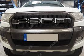 Ford Raptor Ranger - ford ranger t6 grille raptor grille black and white letters
