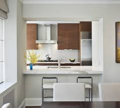 Kitchen Faucets Nyc New York Kitchen Pass Through Modern With Dark Stained Wood