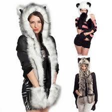 fur hooded scarf women u0027s accessories ebay