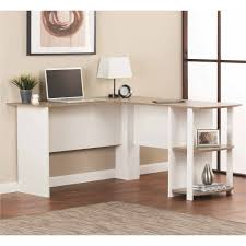White Desk L Shaped Desk With Side Storage Multiple Finishes Walmart Com